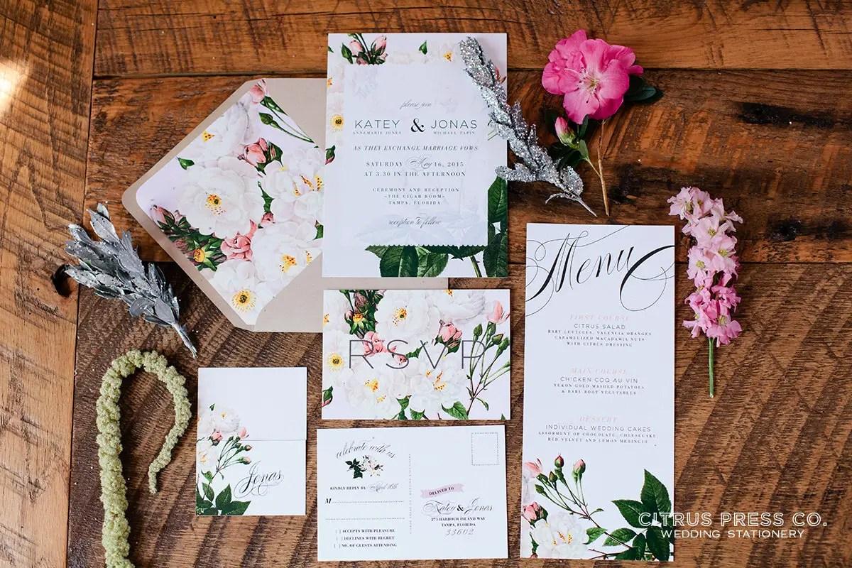 Wedding Invitations Rose: Rose Wedding Invitations -- #HANDMADEADAY