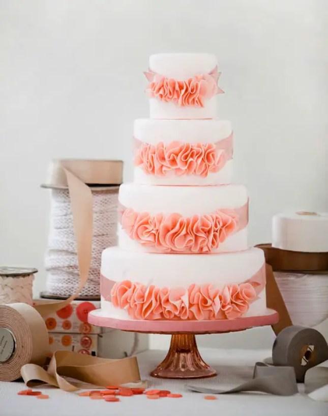 rosettes wedding cake