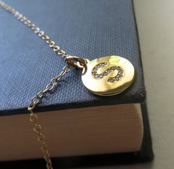 s gold initial necklace