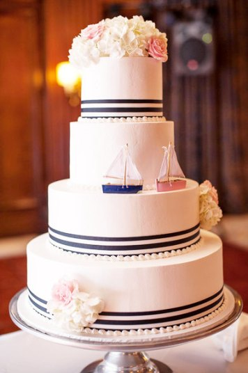 sailboats on cake