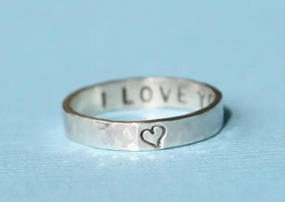 Wedding ring message