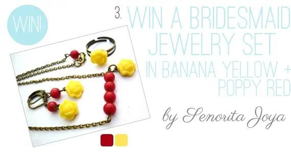 Holiday Giveaway at Emmaline Bride® - Day 2 - Bridesmaid Jewelry Set by Senorita Joya