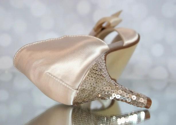sequin wedding shoe heel