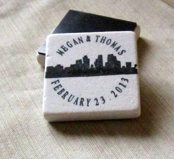 skyline favor magnets