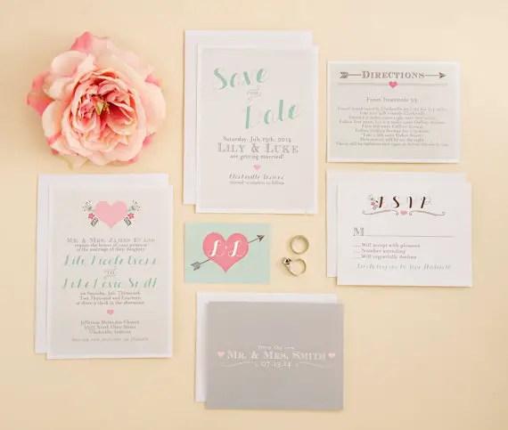 spring via 8 Whimsical Wedding Invitations