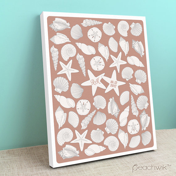 starfish guest book poster by peachwik | via starfish wedding ideas: http://emmalinebride.com/beach/starfish-wedding-ideas/