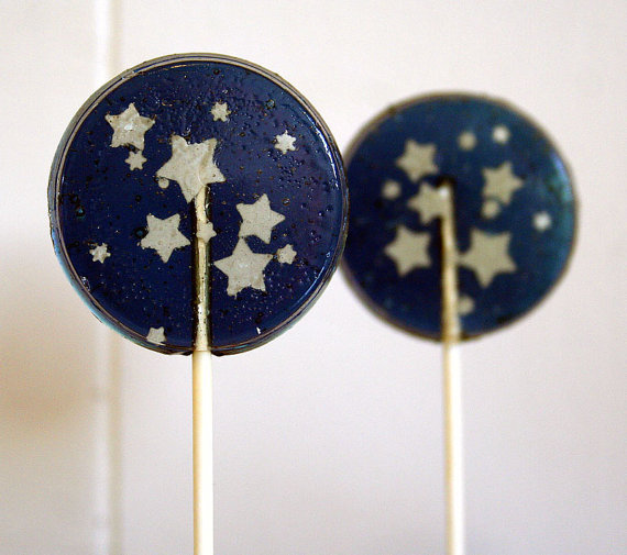starry night lollipops favors by SmashCandies