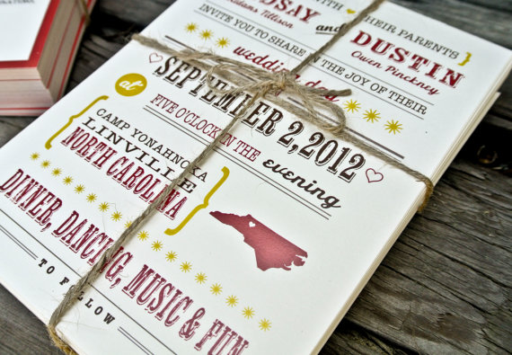 state themed wedding invitations
