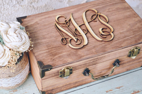 wedding card box suitcase