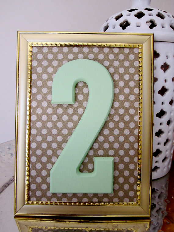 7 Unique Table Number Holders - picture frame table number by the garrett group