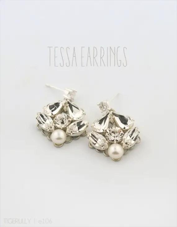 Vintage Drop Earrings (Tessa by Tigerlilly Jewelry) #handmade #wedding #jewelry