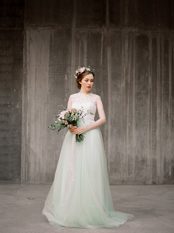 three piece wedding dress by milamirabridal - left