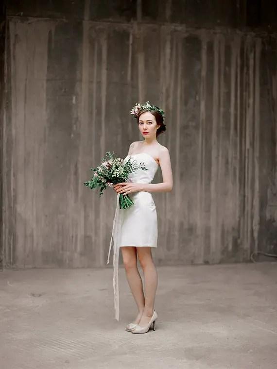 three piece wedding dress by milamirabridal - right