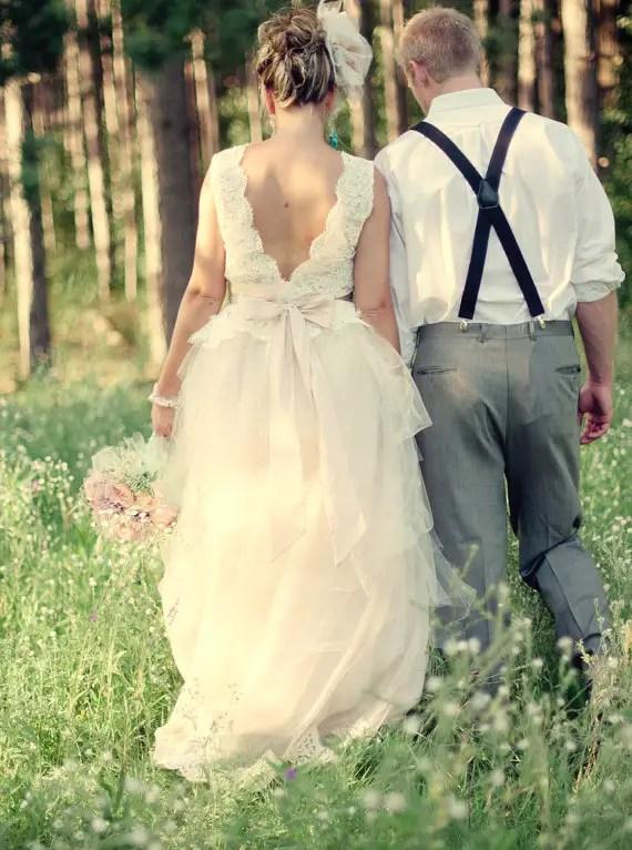 two piece wedding dress by glory by jeannie lee - 2