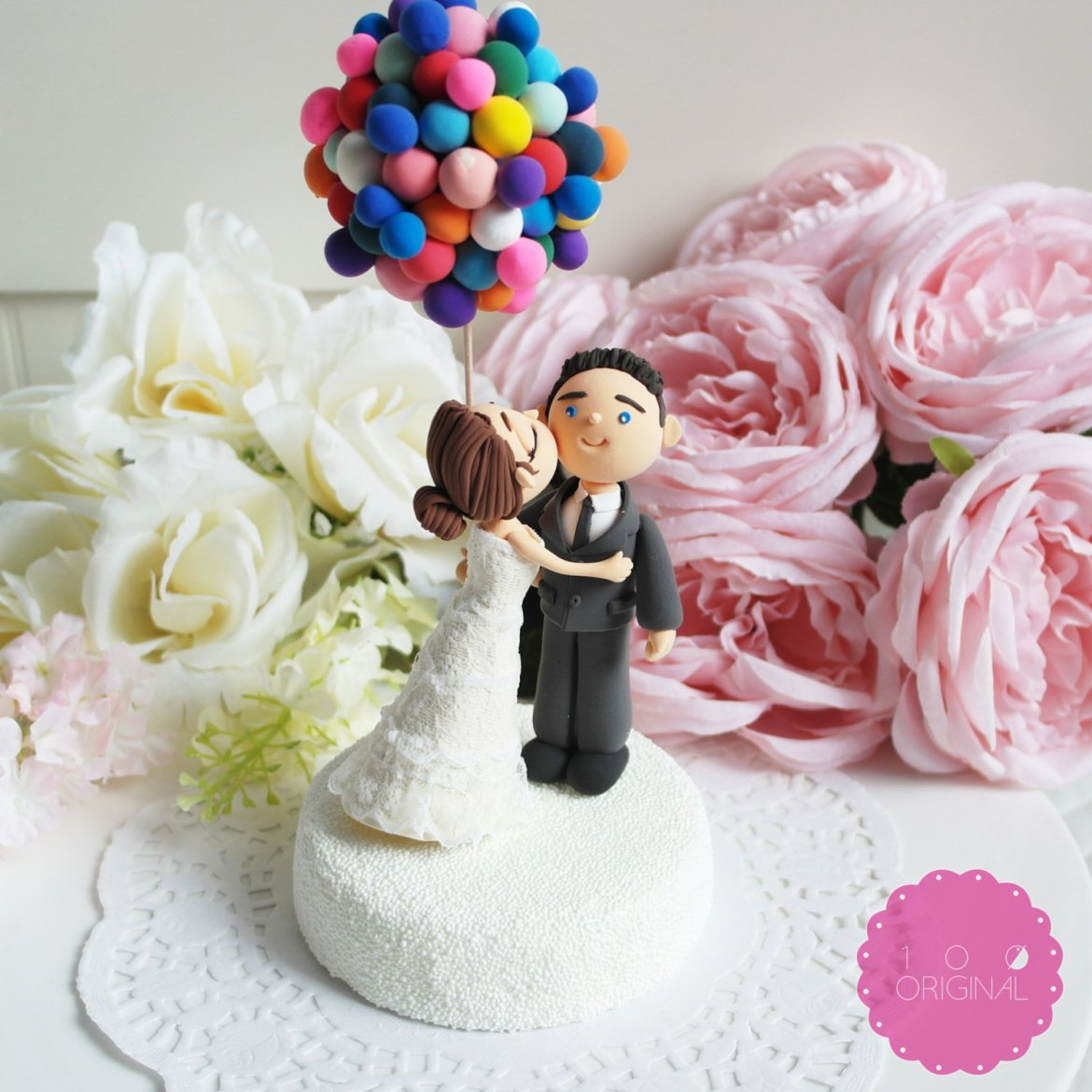 up themed cake topper - 9 Adorable Custom Made Cake Toppers via http://emmalinebride.com/decor/custom-made-cake-toppers/