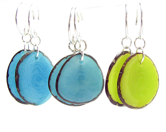 Eco Wedding Ideas - earrings by twice creations