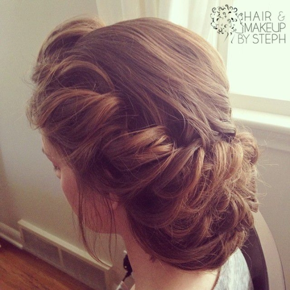 Victorian Updo Wedding Hairstyle