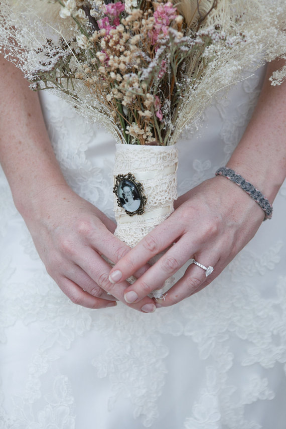 vintage brooches bouquet handle