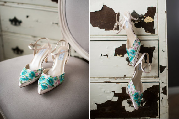 Vintage Handkerchief Wedding Shoes