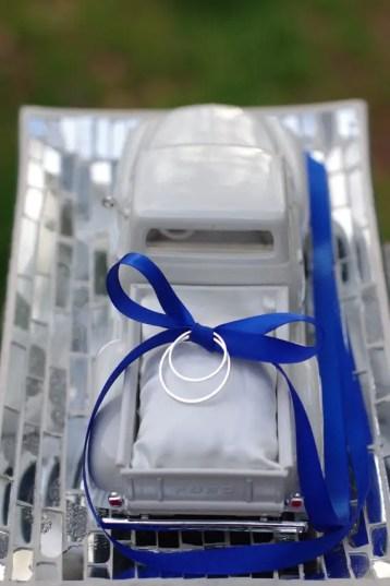 vintage inspired wedding ring pillow