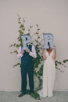 monogram vintage inspired wedding marquee lights