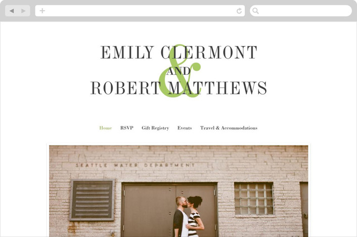 wed in type wedding website