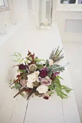wedding bouquet with borhemian rustic feel