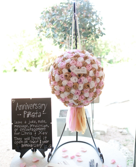 Wedding Cake Stand Ideas: Wedding Pinata Guest Book Idea