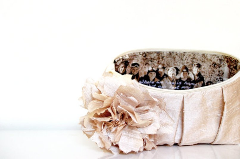 wedding purse with photo inside