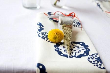 wedding tea favor bags