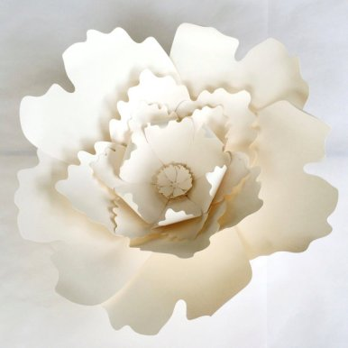 white paper flower