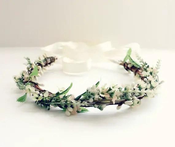 wild flower hair crown