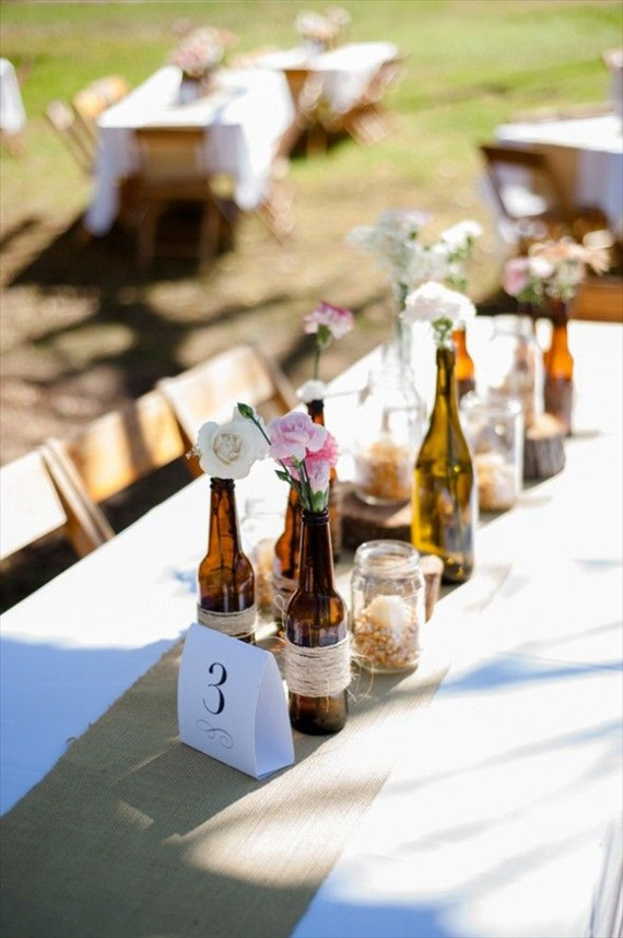 50 wine themed wedding ideas emmaline bride ForWedding Table Decorations With Wine Bottles