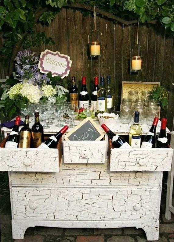Wedding Drink Station Ideas - wine themed wedding bar