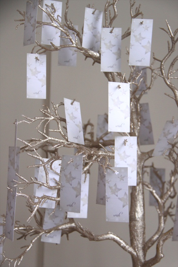 wish tags from manzanita tree - Wedding Wish Tree