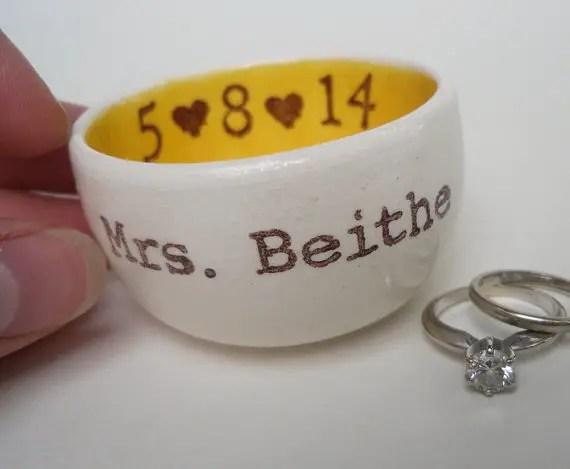 Ring Dish by Elycia Camille | ring dish wedding | http://emmalinebride.com/2015-giveaway/ring-dish-wedding/