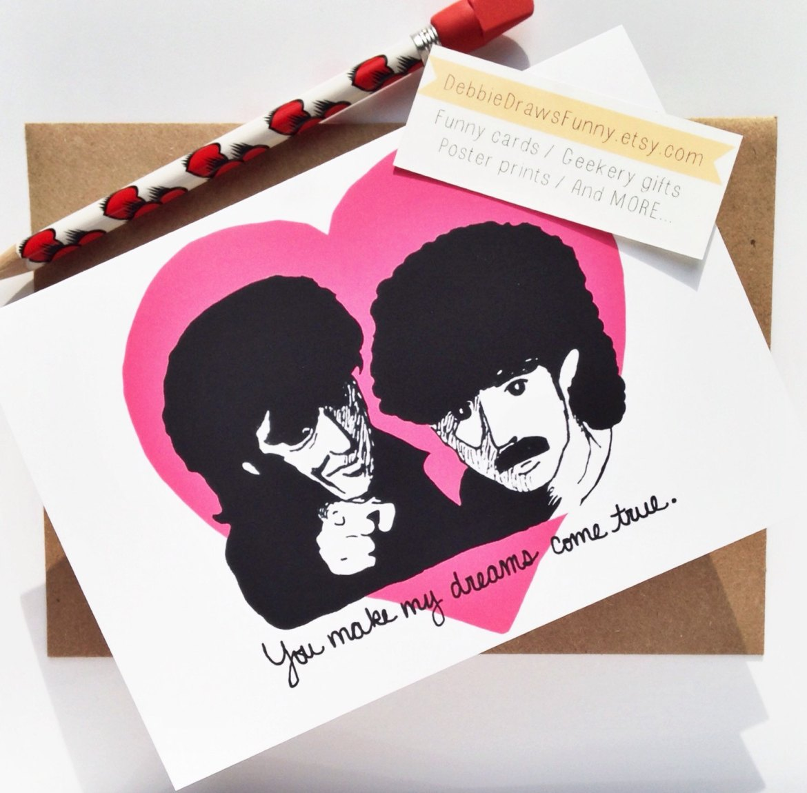 you make my dreams come true hall and oates - via funny valentine cards etsy from EmmalineBride.com