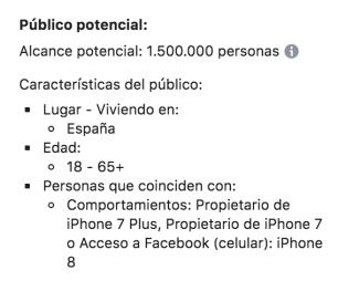 Segmentación FB Ads por usuario de dispositivo móvil