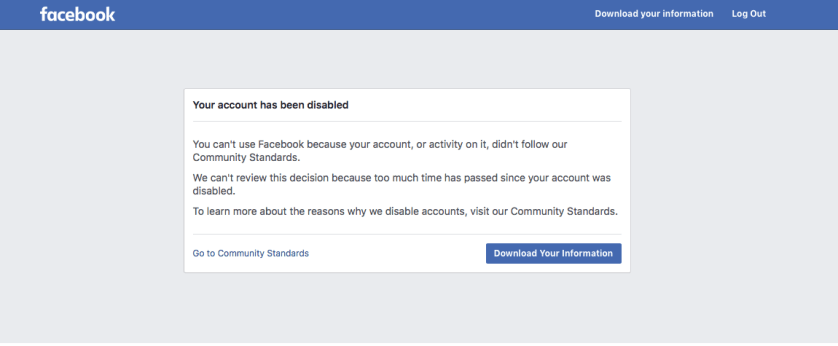 Cuenta inhabilitada en Facebook Ads