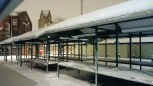 Pudsey Market in the snow