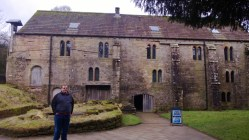 Cameron at the Water Mill in Fountains Abbey