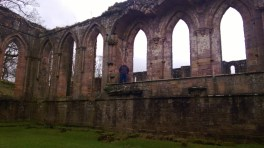 Cameron at Fountains Abbey