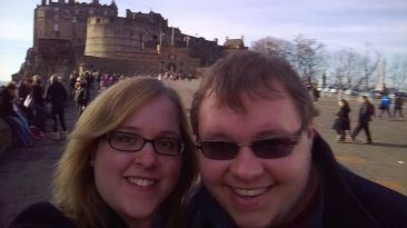 Cameron and I at the Castle