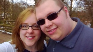 Me and Cameron at Golden Acre Park
