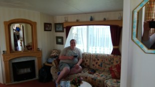 Cameron in the living room