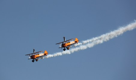 Breitling Wing Walkers at Waddington Air Show 2013