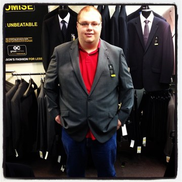 Trying on suits last night ;)