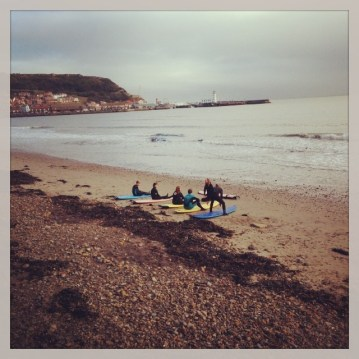 Watching the surfing lessons after #tide2013, not quite brave enough to venture in myself though!