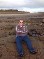 Cameron on Alnmouth Beach