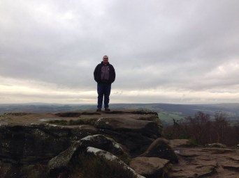 Cameron at Brimham Rocks